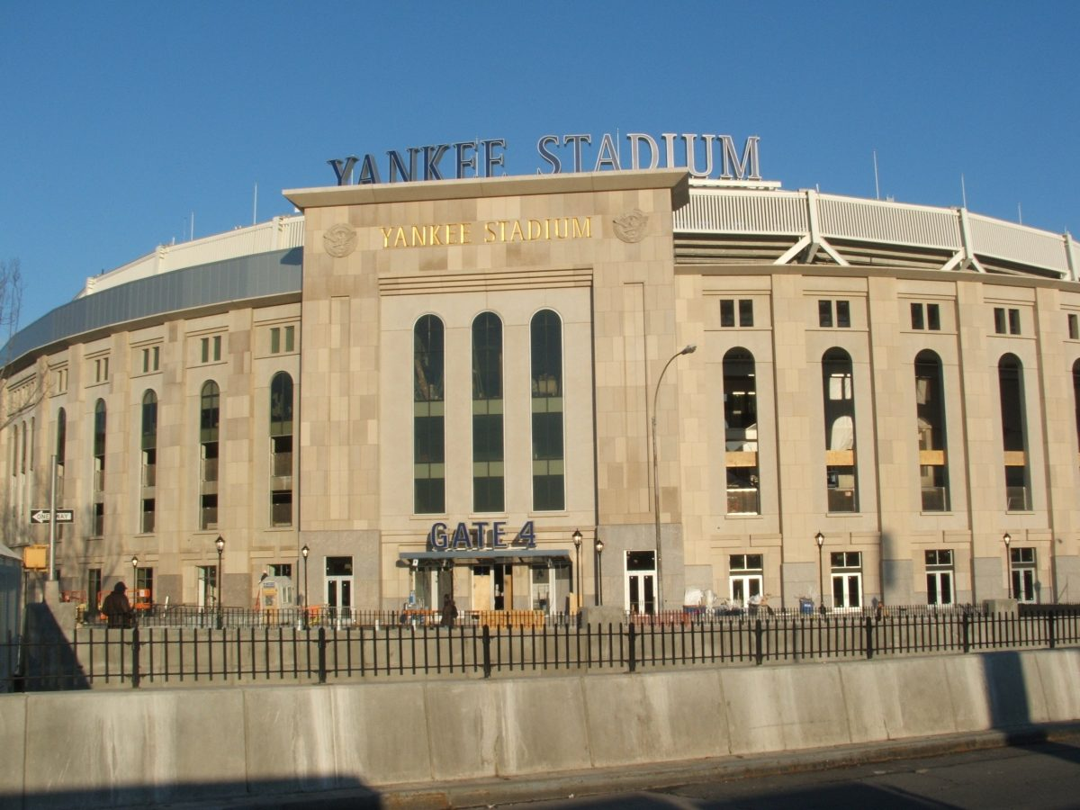1996 World Series Yankees lost two games in the final series to the Atlanta Braves, the Yankees won four games in a row to win the series. Yankee Stadium baseball park Concourse Bronx New York City.